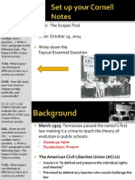 WEBNotes - Day 7 - 1920s - Scopes Trial