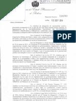 Resolución SupremaN°13080 que otorga la personería jurídica a la CONAIOC
