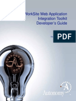 WorkSite Web Application Integration Toolkit (8.5, English)