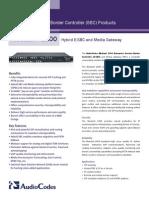 Mediant 1000 E-SBC Datasheet