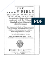 Douay Rheims 1610 Bible