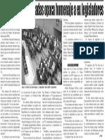 23-10-2014 Dicusión entre bancadas opaca homenaje a ex legisladores