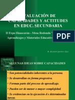 Evaluacion de Capacidades y Actitudes en Educacion Secunadaria