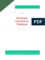 developer compliance database manual