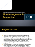 Time Management in Project Completion