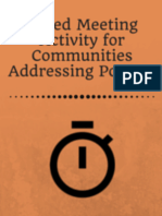 Speed Meeting Activity for Communities Addressing Poverty