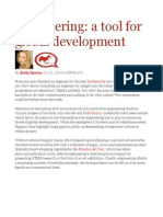 Engineering a Tool for Global Development