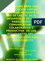 EDIFIQUEMOS  CONVIVENCIA Y VIVAMOS LOS VALORES ATRAVEZ DEL uso de las tic..odp