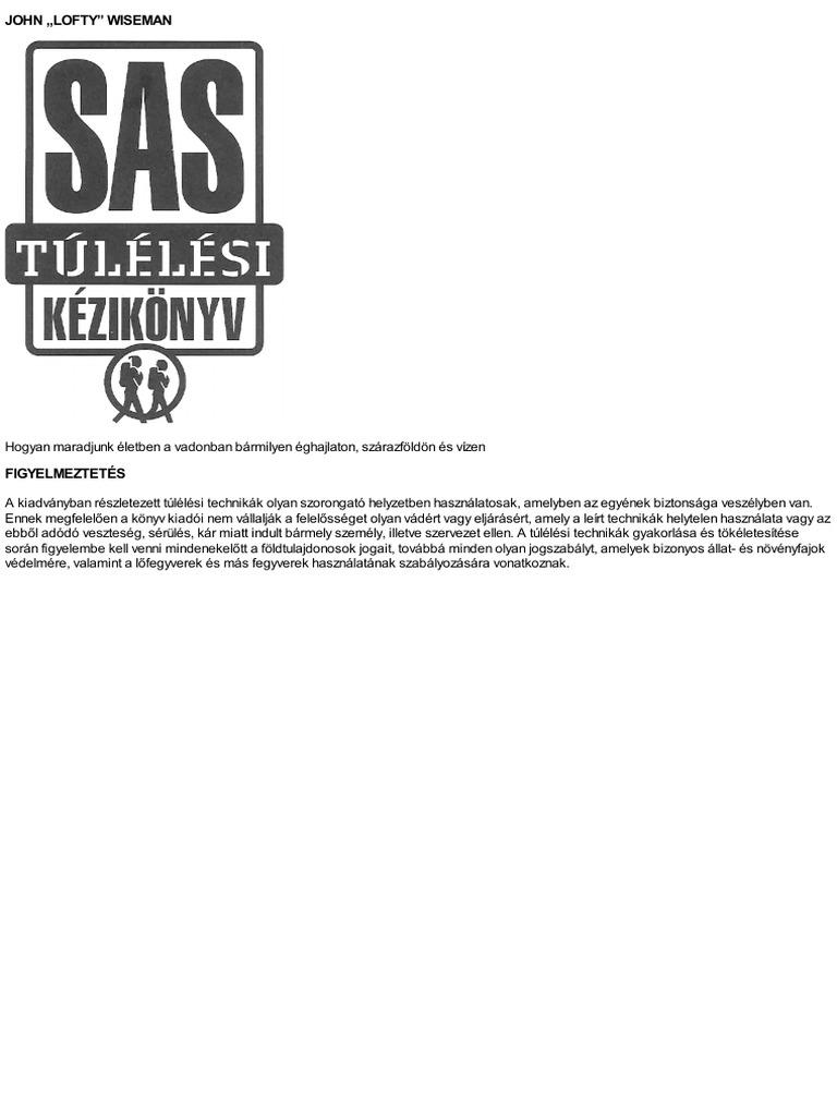 Sas Tulelesi Kezikonyv - John Wiseman f981c8b89e