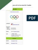Juegos Olímpicos de la Juventud de Nankín 2014.docx