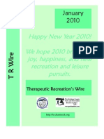 Therapeutic Recreation Wire - January 2010