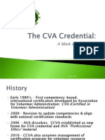 The CVA Credential