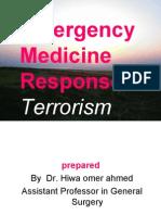 EMERGENCY MEDICAL RESPONSE TO TERRORISM