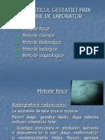 Diagnosticul Gestatiei Met. de Lab.