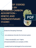 Removal of Steroid Hormones by Activated Carbon Adsorption
