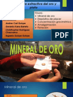 Gravimetria, Amalgamacion y Flotacion del Oro.pptx