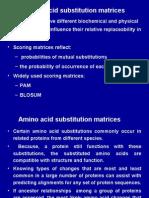 Aminoacid+Alignment including PAM & BLOSUM