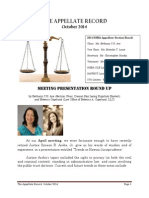 The Appellate Record, October 2014
