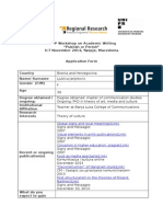 Application Form_Publish or Perish_Skopje Nov 2014 - Ljubica