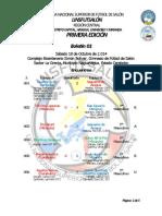 Boletin Numero 1 Liga Nacional Superior de Futbol de Salon, Zona Central 2014