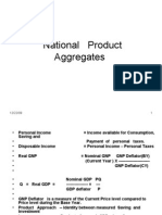 National Product Aggregates