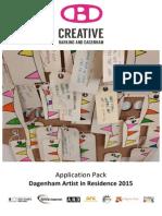 Dagenham Artist in Residence Application Pack