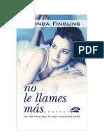 gratis libro no le llames mas rhonda findling