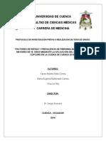 Factores de Riesgo y Prevalencia de Fibromialgia en Personas Mayores de 18 Años Mediante La Aplicación Del Cuestionario Copcord en La Ciudad de Cuenca 2014