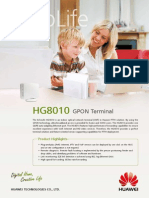 Huawei EchoLife HG8010(GPON) Brief Product Brochure(2011!01!20)
