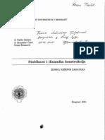 Stabilnost i Dinamika Konstrukcija - Zbirka Resenih Zadataka - r. Salatic, b. Coric, s. Zivanovic 2001 Beograd