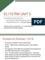 EL172 RW U5 Reading Skill