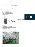 BFDX walkie talkie BF-860 specification .doc