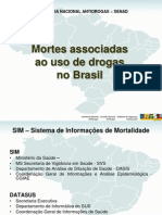 Mortes associadas ao uso de drogas no Brasil.