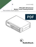 Radio Shack_Pro-2067 Trunk-track VHF-UHF Scanner_Manual