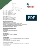 ETAP 12 6 System Requirements