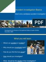 Accident investigation