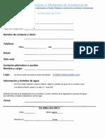 Formulario de registro para socios