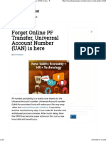 Forget Online PF Transfer, Universal Account Number (UAN) is Here - PlanMoneyTax