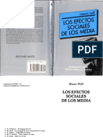 Mauro Wolf - Los efectos sociales de los media