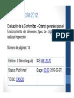 ISO IEC 17020 2012 Evaluación de la Conformidad.pdf