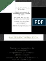 PROGRAMACION Y CONTROL DE OBRAS RESUMEN
