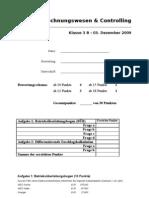 Test Kostenrechnung CONTROLLING (03.12.2009)