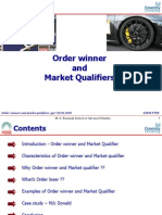 Order Winners and Market Qualifiers