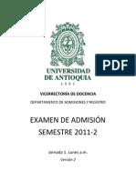 Examen de admisión Universidad de Antioquia (2011-2) (1).pdf
