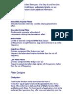 Filter Defs