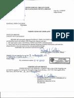 Verification Affidavit