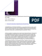 Fundamentals of Applied Dynamics Revised Printing