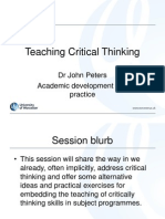 Teaching Critical Thinking 2009 and Notes