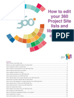 How to Edit Your 360 Project Site Lists and Libraries and Calendars