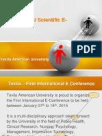 International Scientific E Conference